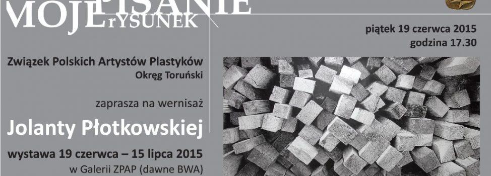 Zaproszenie na wystawę rysunków Jolanty Płotkowskiej