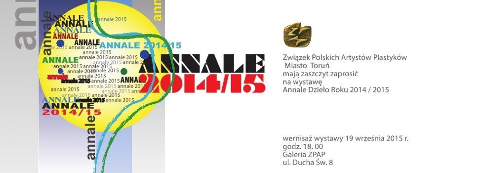 """Zaproszenie na wystawę """"ANNALE 2014/2015"""""""