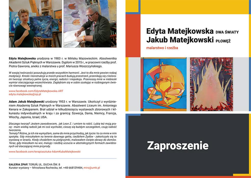 Wystawa Edyty i Jakuba Matejkowskich
