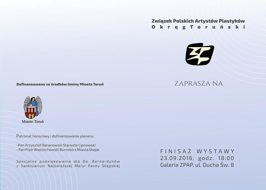 """Zaproszenie na finisaż wystawy """"Kręgi"""""""