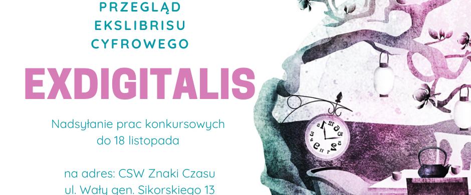 Międzynarodowy Przegląd Ekslibrisu Cyfrowego Ex DIGITALIS Salon 2019!