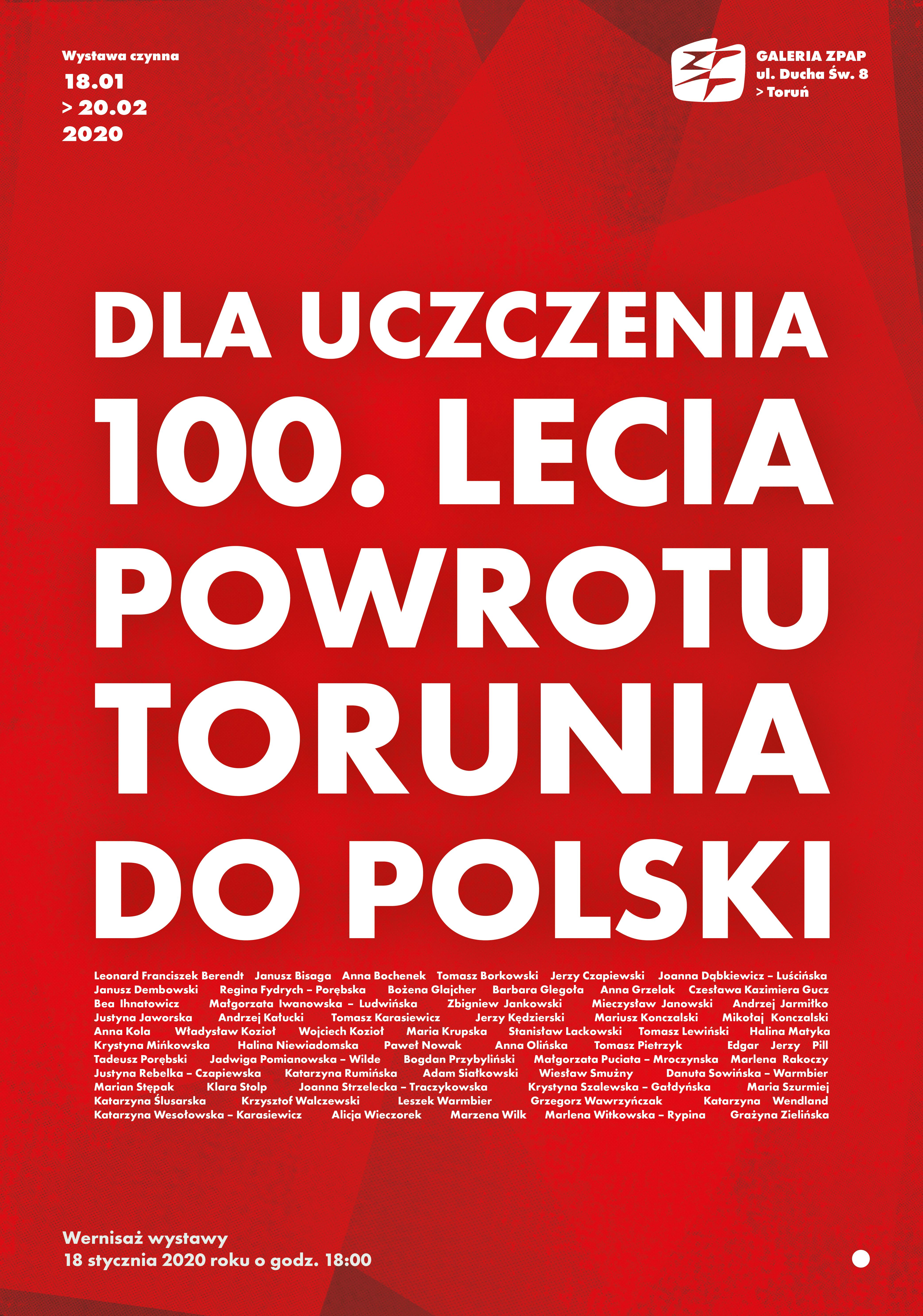 """""""Dla uczczenia 100. Lecia Powrotu Torunia do Polski"""""""