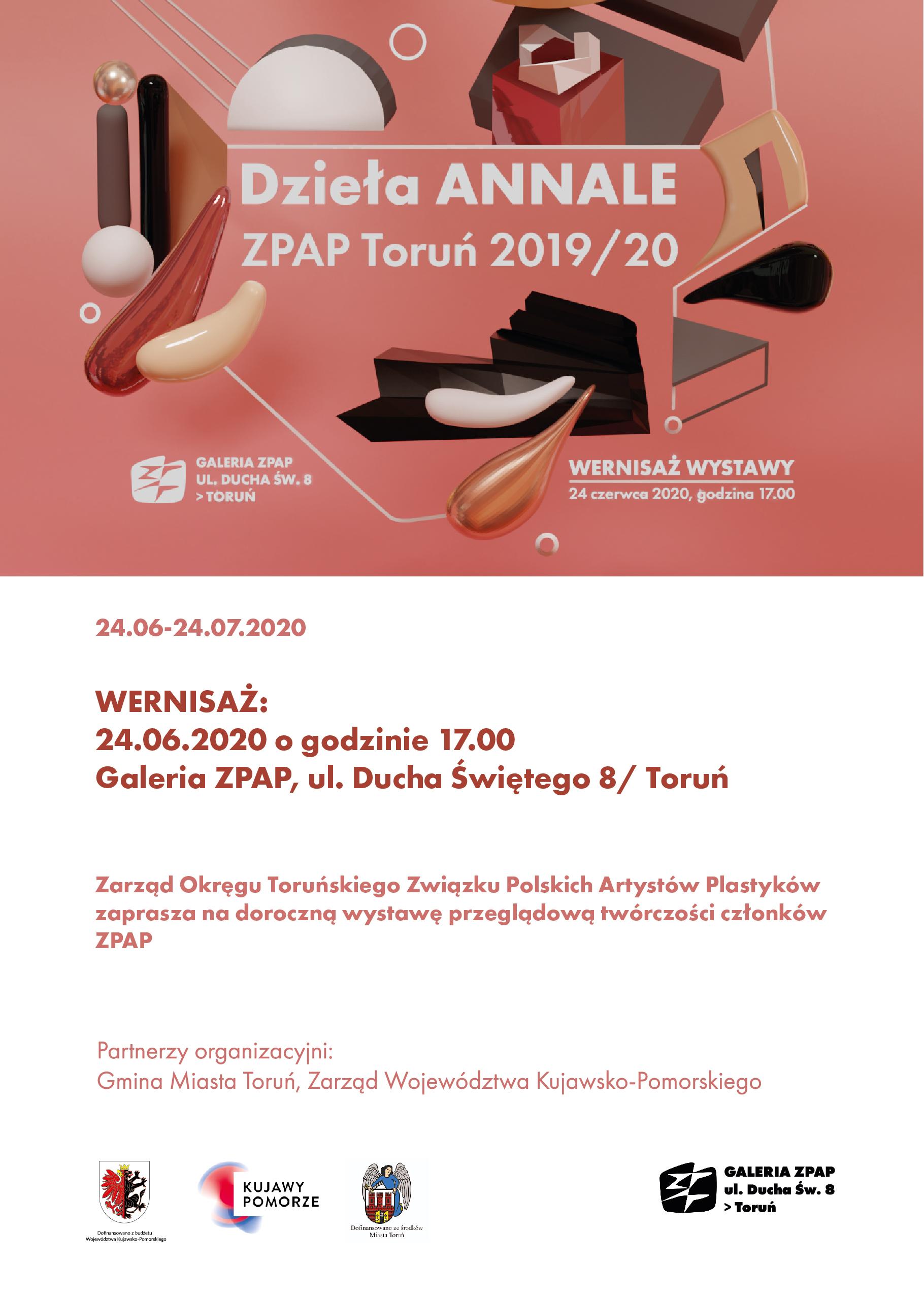 Zaproszenie na doroczną wystawę przeglądową twórczości członków ZPAP