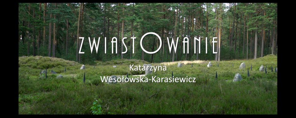 """ZAPROSZENIE NA WYSTAWĘ """"ZWIASTOWANIE"""" KATARZYNY WESOŁOWSKIEJ-KARASIEWICZ"""