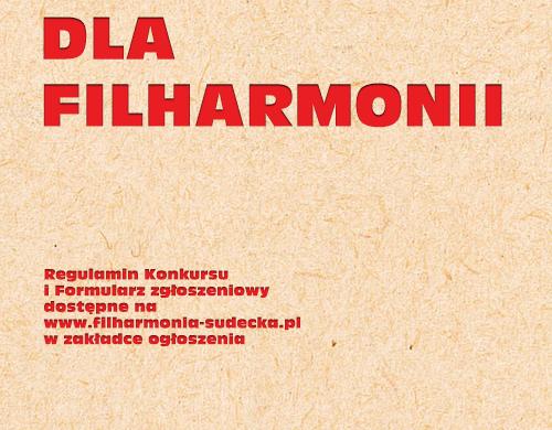 Konkurs na logo dla Filharmonii Sudeckiej im. Józefa Wiłkomirskiego w Wałbrzychu.