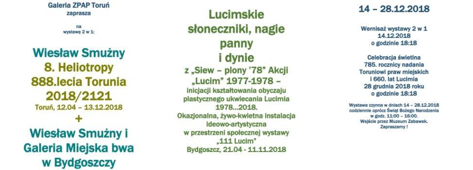 Zapraszamy na wystawę '8. Heliotropy 888.lecia Torunia 2018/2121' – Wiesław Smużny