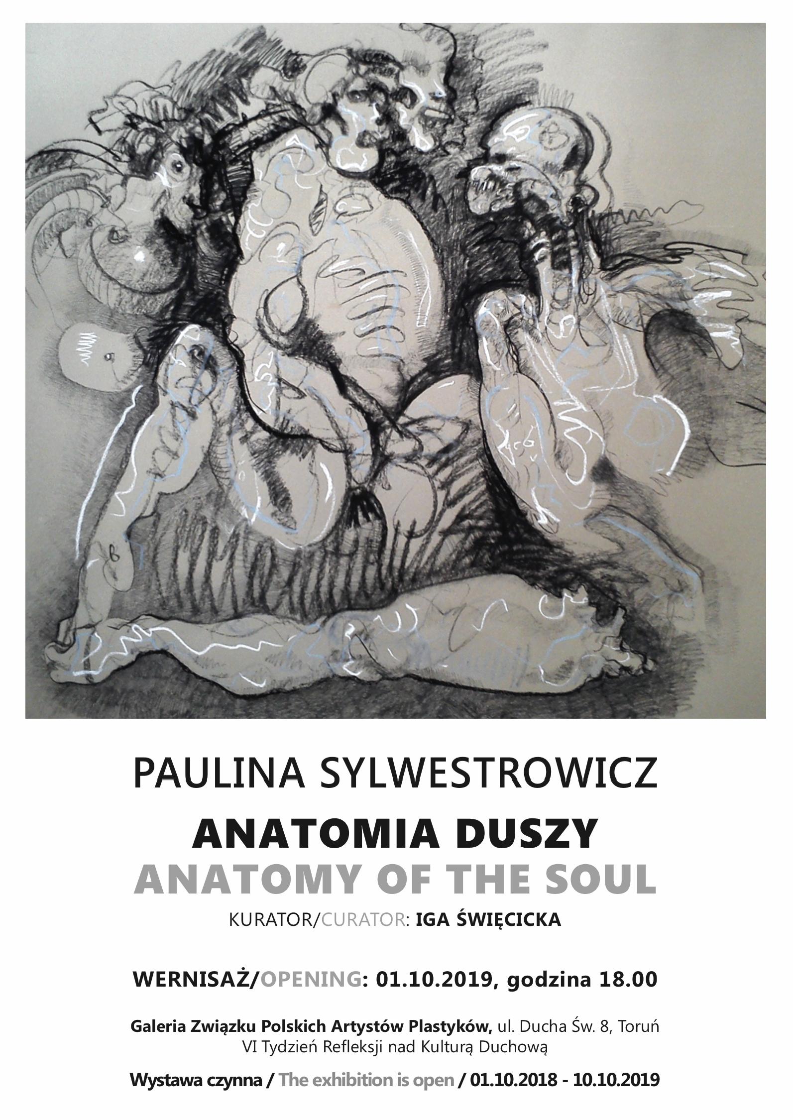 Zaproszenie na wystawę Pauliny Sylwestrowicz pt. Anatomia duszy