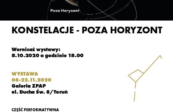"""Zaproszenie na wernisaż wystawy pt. """"Konstelacje – Poza horyzont""""."""